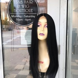 Accessories - Wig Long Black Lacefront Swisslace 30+ New 2019